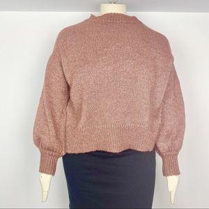 NWOT Ava & Viv dusty pink boxy soft sweater 14